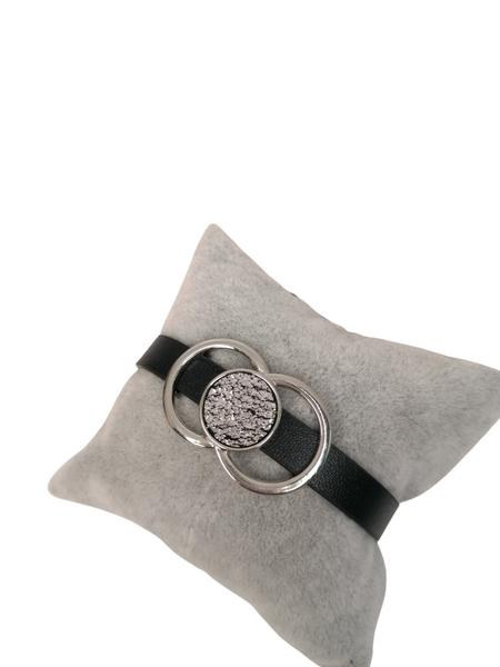 Bilde av 2724 armbånd sølv/sort